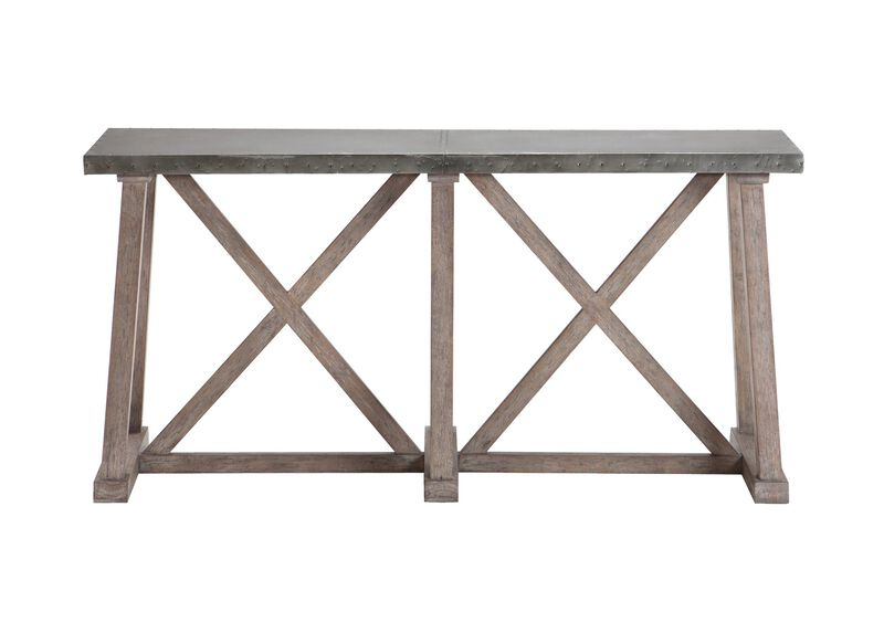 Bruckner Metal-Top Console Table