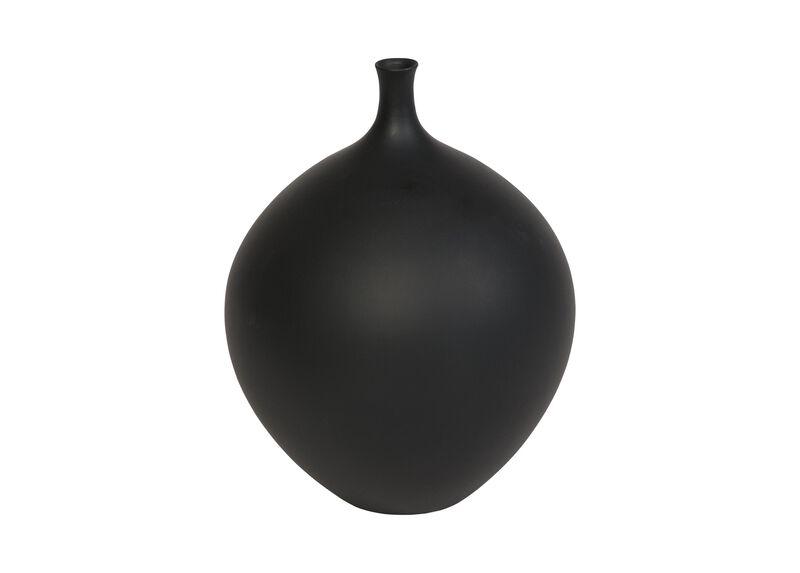 Issa Round Black Vase