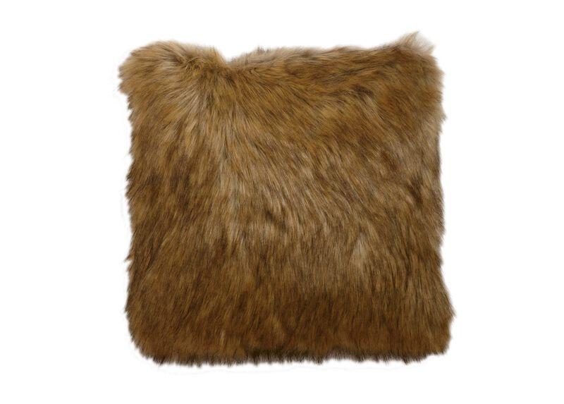 Tipped Fox Faux Fur Pillow