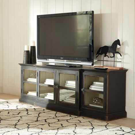 Farragut Media Cabinet, Rustic Black with White Interior Product Tile Hover Image 139855   738