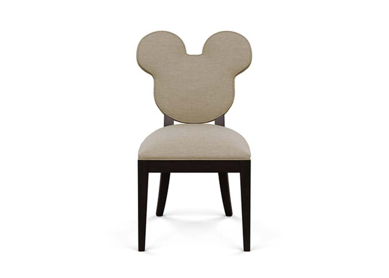 Mickey Mouse Everywhere Chair Zest Linen D1031 Strie Texture Large Gray