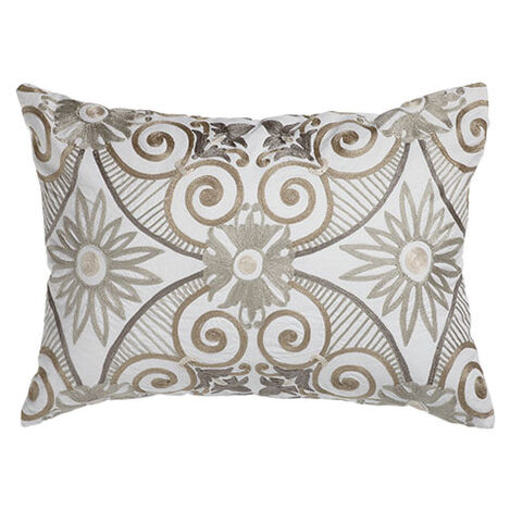 Embroidered Tile Pillow ,  , large