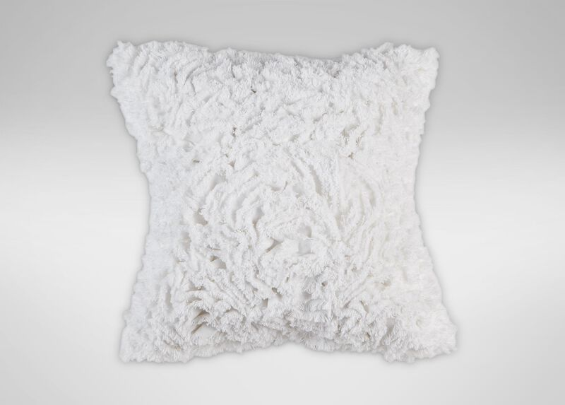 Ruffled White Pillow ,  , large_gray