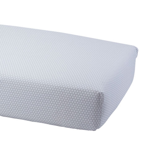 Dotty Crib Sheet, Mouse Grey ,  , large
