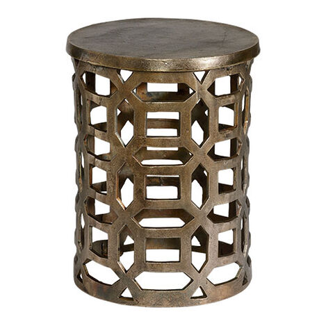 Bennie Pierced Brass Stool Product Tile Image 421700