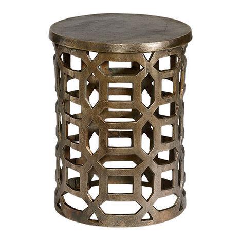 Bennie Pierced Brass Stool Product Tile Image 421700