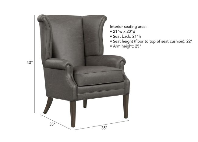 Swell Clara Leather Wing Chair Ethan Allen Ocoug Best Dining Table And Chair Ideas Images Ocougorg