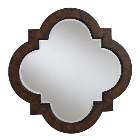 Dark Quatrefoil Mirror ,  , large