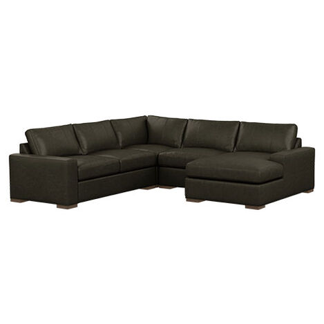 Conway Four-Piece Leather Sectional with Chaise Product Tile Image 727788G5