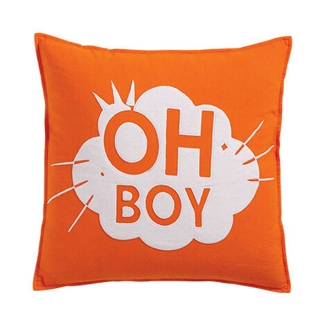 Mickey Mouse Oh Boy Pillow, Carrot ,  , large