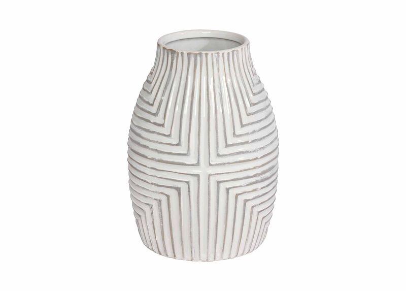Aztec White Vase ,  , large_gray