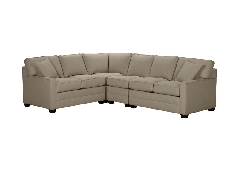 Bennett Track-Arm Four Piece Sectional, Quick Ship , Palmer Fog (Q3055), chenille , large_gray