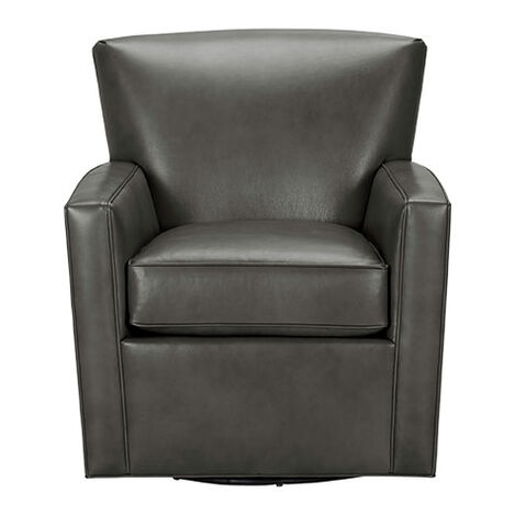 Turner Leather Swivel Chair, Quick Ship ,  , large