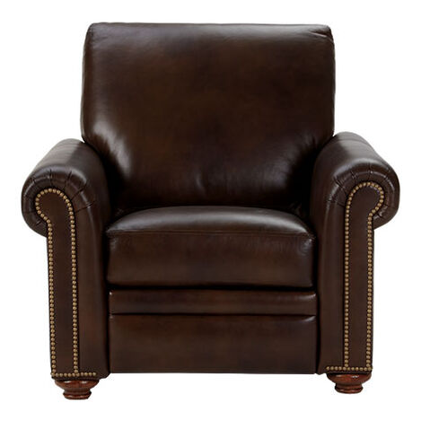 Conor Leather Recliner, Omni/Brown Product Tile Image 837975 L7877