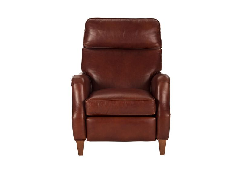Amazing Aiden Leather Recliner Old English Saddle Recliners Short Links Chair Design For Home Short Linksinfo