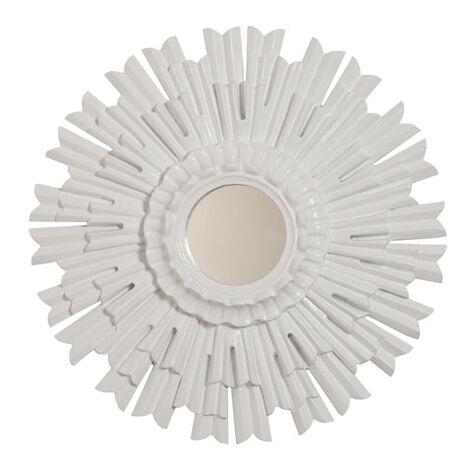 """20"""" White Sunburst Mirror Product Tile Image 074062"""
