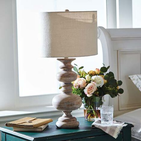 Leekah Turned Table Lamp Product Tile Hover Image 096076