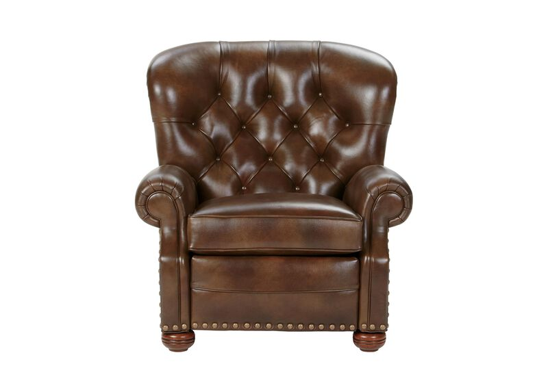 Cromwell Leather Recliner, Omni/Tobacco