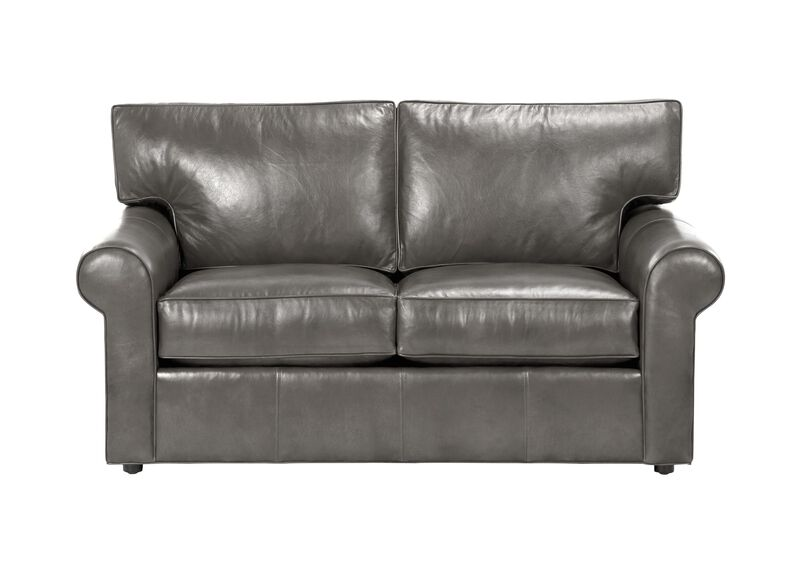 Retreat Roll-Arm Leather Sofa, Quick Ship ,  , large_gray
