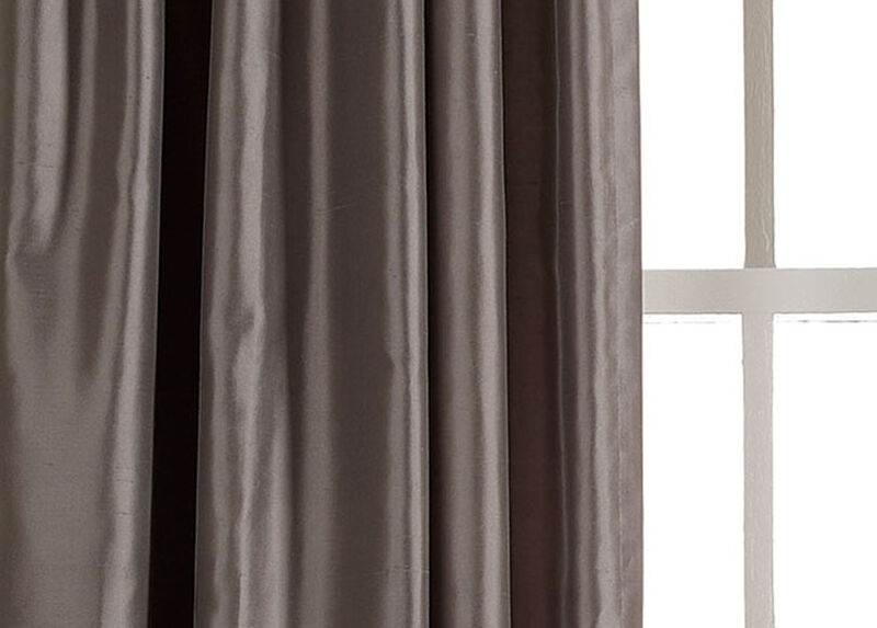 Charcoal Satin Dupioni Fabric by the Yard