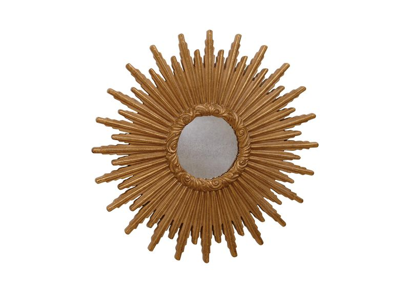 "24"" Gold Starburst Mirror"