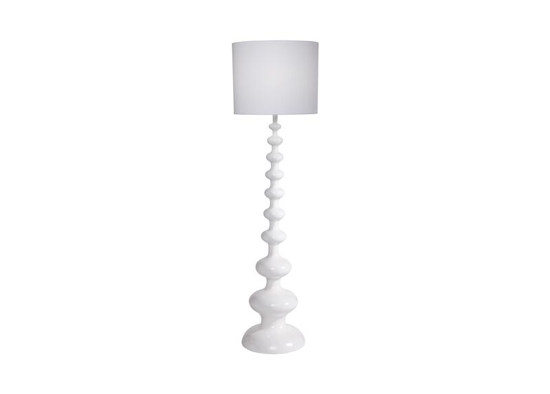 Modern Spindle Floor Lamp, Snow ,  , large_gray