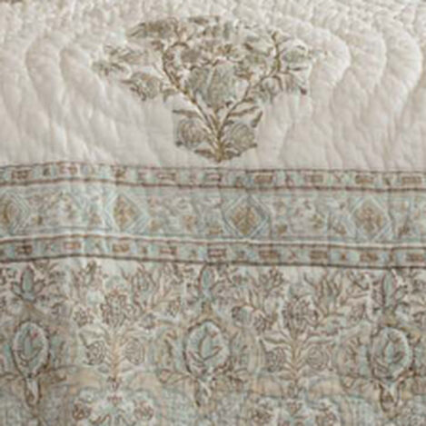 Mineral Hand-Blocked Quilt and Shams ,  , hover_image