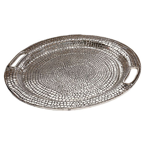 Round Croco Tray ,  , large