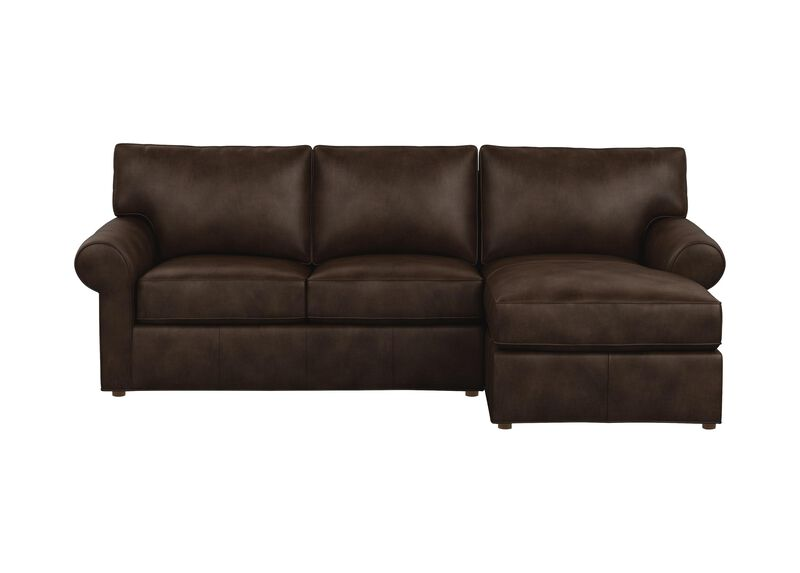 Retreat Leather Roll-Arm Two-Piece Sectional