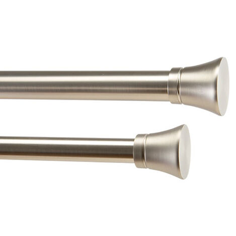 Flute Finials and Drapery Hardware Set, Brushed Nickel Product Tile Image FluteBrushedNickel