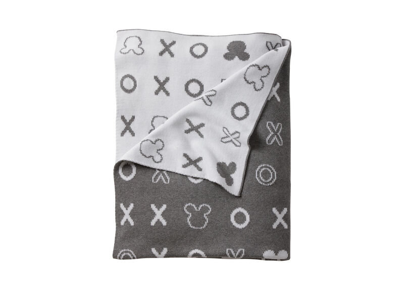 Mickey Mouse Hugs and Kisses Knit Stroller Blanket, Mouse Grey ,  , large_gray