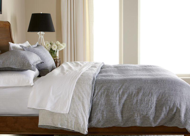 Verano Ticking Stripe Duvet Cover ,  , large_gray