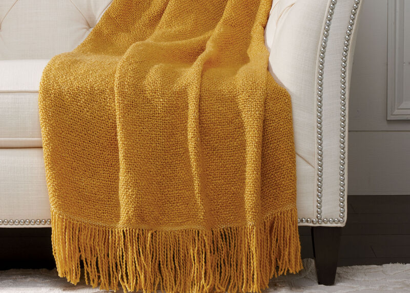 Serene Throw, Goldenrod | Tuggl