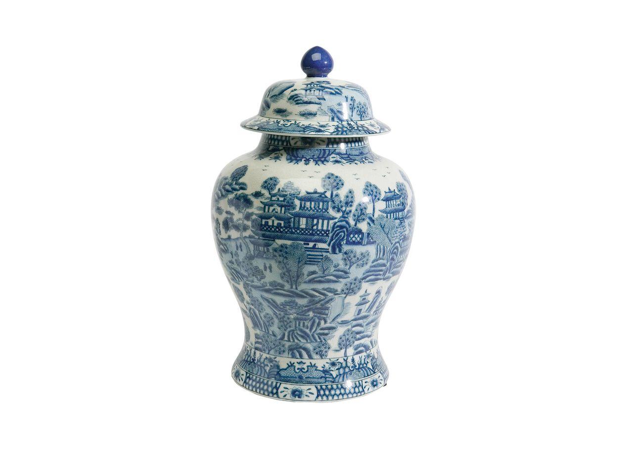 Large Ginger Jar Blue Selected 1