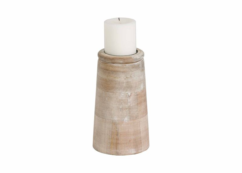 Small Dillon White Candleholder ,  , large_gray