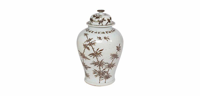 Brown Bamboo Temple Jar