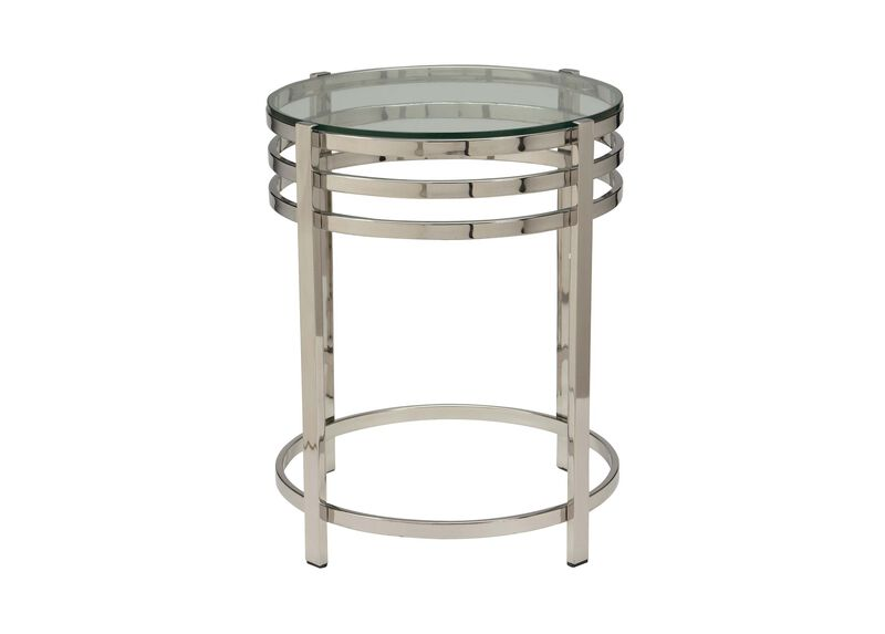 Nickel Side Table ,  , large_gray