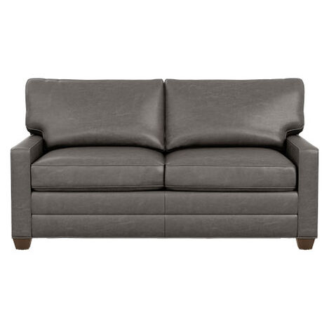 Bennett Track-Arm Leather Queen Sleeper Product Tile Image bennettlthTAqueen