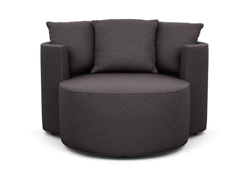 Mickey Mouse Club Chair and a Half , Zest Charcoal (D1054), strie texture , large_gray