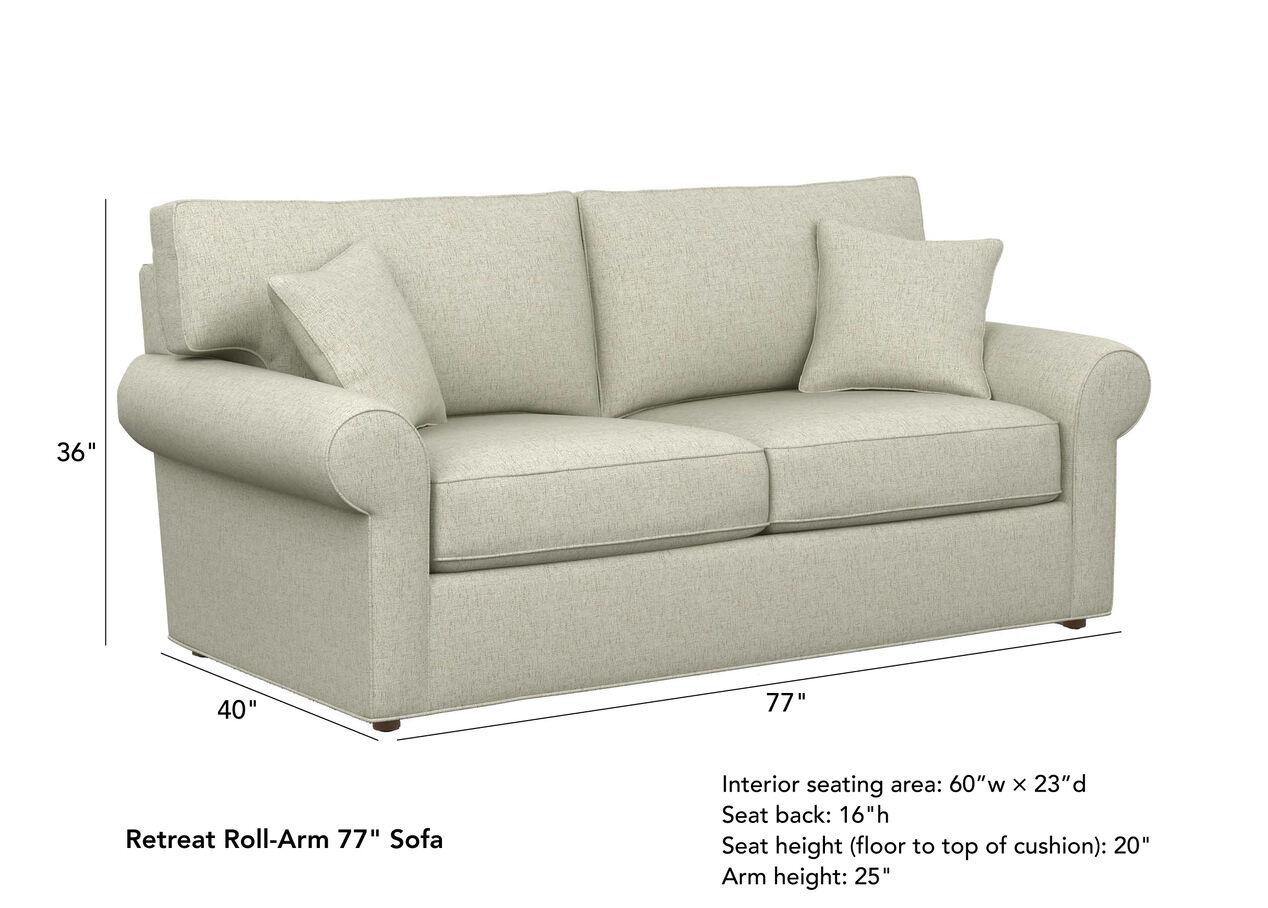 Retreat Roll Arm Sofa 2