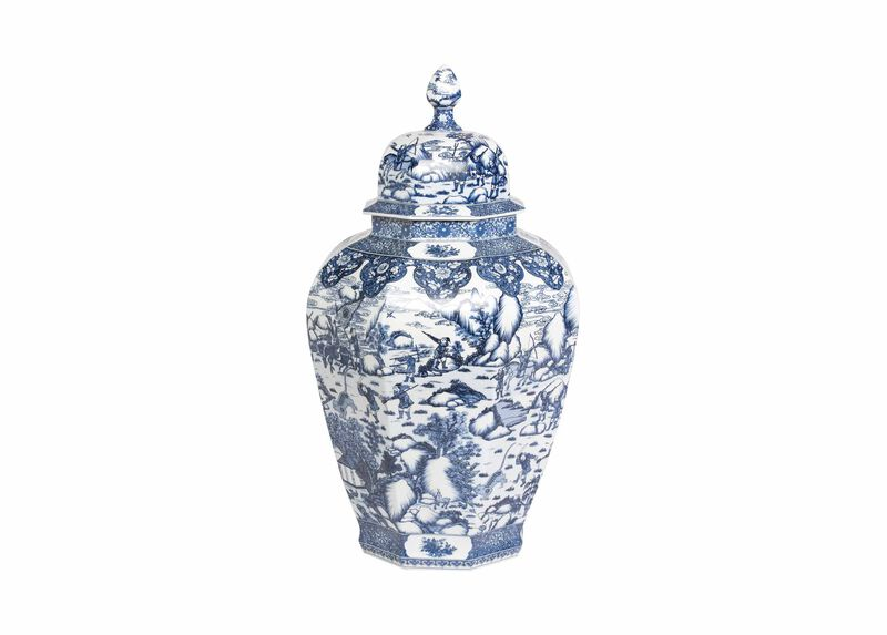 Extra Large Blue and White Ginger Jar