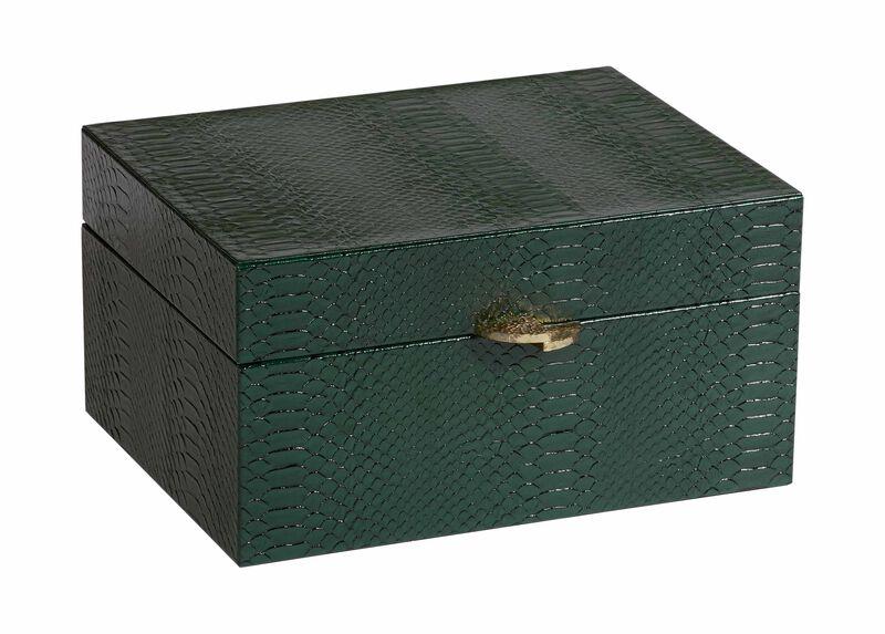 Emerald Snakeskin Box