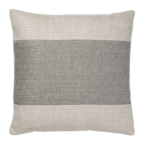 Ivory/Gray Color Block Pillow ,  , large
