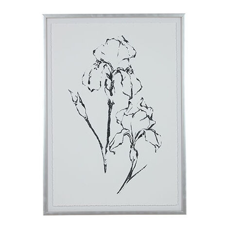 Silver Foil Floral II Product Tile Image 073760B