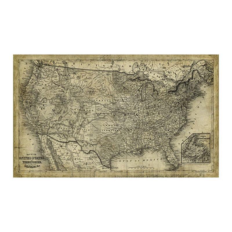 United States Map Vintage ,  , large