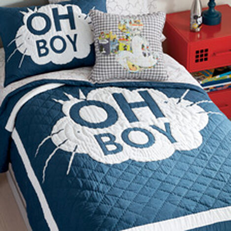 Mickey Mouse Oh Boy Twin Quilt, Deep Sea Product Tile Hover Image 0354073  DPS