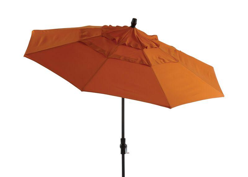 Tuscan Sun Round Market Umbrella, Graphite