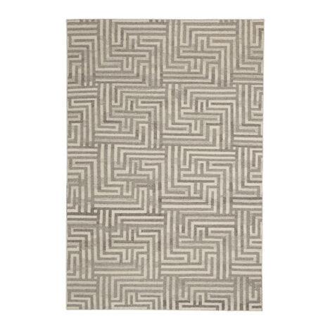 Labyrinth Rug, Ivory/Gray ,  , large