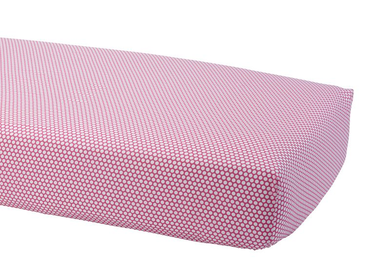 Dotty Crib Sheet, Minnie Pink