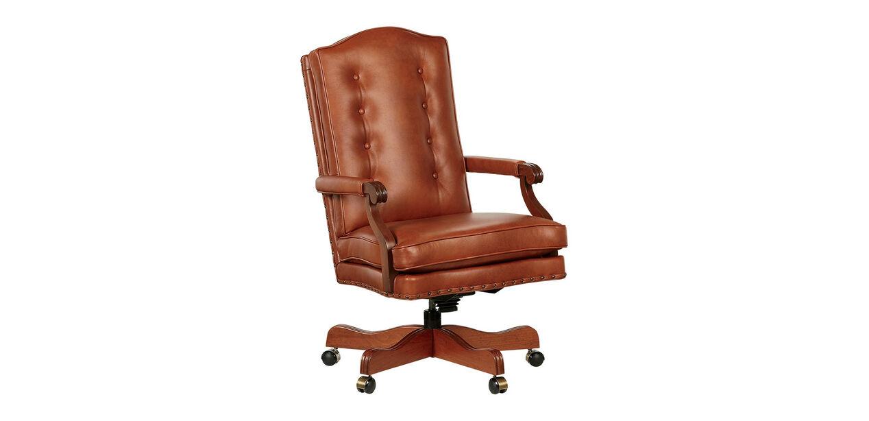 High Back Chair Executive Leather Chair Ethan Allen